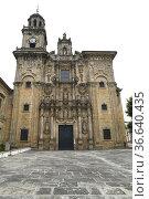Vilanova de Lourenza, San Salvador church (baroque 17th century). ... Стоковое фото, фотограф J M Barres / age Fotostock / Фотобанк Лори