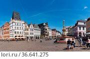 Trier, RP / Germany - 29 July 2020: panorama view of the Hauptmarkt... Стоковое фото, фотограф Zoonar.com/Nando Lardi / easy Fotostock / Фотобанк Лори