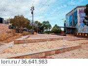 Melbourne, Australia - April 18 2020: Melbourne's iconic Federation... Стоковое фото, фотограф Zoonar.com/Chris Putnam / easy Fotostock / Фотобанк Лори