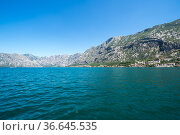 Panorama of the Bay of Kotor and the town (2019 год). Стоковое фото, фотограф Юлия Белоусова / Фотобанк Лори