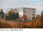 Straßberg Harz Herbst Impression Blick zur alten Schule. Стоковое фото, фотограф Zoonar.com/Daniel Kühne / age Fotostock / Фотобанк Лори