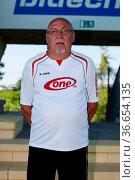 ZFC Meuselwitz Mannschaft 2013/2014. Стоковое фото, фотограф Zoonar.com/Markus Kaemmerer / age Fotostock / Фотобанк Лори