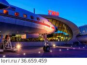 New York, Vereinigte Staaten - 29. Februar 2020: Ein Lockheed L1649A... Стоковое фото, фотограф Zoonar.com/Markus Mainka / age Fotostock / Фотобанк Лори