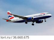 London, Vereinigtes Königreich - 9. Juli 2019: Ein Airbus A320 der... Стоковое фото, фотограф Zoonar.com/Markus Mainka / age Fotostock / Фотобанк Лори