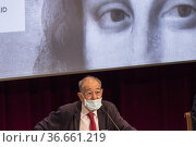 Javier Solana President of the Board of Trustees of the Prado Museum... Редакционное фото, фотограф Rafael De La Camara / age Fotostock / Фотобанк Лори