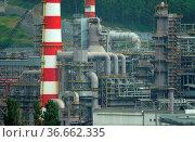 Oil station gasoline fuel at the rail road depot. Стоковое фото, фотограф Zoonar.com/Maximilian Buzun / easy Fotostock / Фотобанк Лори
