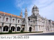 Lissabon Hieronymus Kloster - Lisbon Jeronimos Monastery 09. Стоковое фото, фотограф Zoonar.com/LianeM / easy Fotostock / Фотобанк Лори