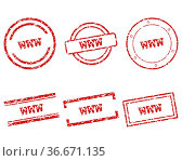 WWW Stempel. Стоковое фото, фотограф Zoonar.com/Robert Biedermann / easy Fotostock / Фотобанк Лори