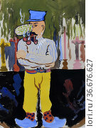 The Pope's Crime, c. 1948, by René Magritte. Редакционное фото, фотограф Frederic Soreau / age Fotostock / Фотобанк Лори