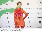 Mariana di Girolamo attends to Los Prisioneros' the Plantino Awards... Редакционное фото, фотограф NACHO LOPEZ / age Fotostock / Фотобанк Лори