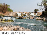 Khone Pha Soy Waterfall, Don Khone Island, Laos Asia. Стоковое фото, фотограф Zoonar.com/Alexander Ludwig / easy Fotostock / Фотобанк Лори