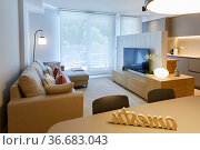 Living room and television, Living room, Home interior, Interior ... Стоковое фото, фотограф Javier Larrea / age Fotostock / Фотобанк Лори