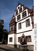 Abtei Bad Gandersheim mit Elisabethbrunnen. Стоковое фото, фотограф Zoonar.com/Martina Berg / easy Fotostock / Фотобанк Лори