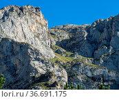 Fuente De in the in mountains of Picos de Europa, Cantabria, Spain... Стоковое фото, фотограф Zoonar.com/Rudolf Ernst / easy Fotostock / Фотобанк Лори