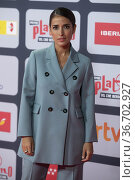 Inma Cuesta attends to Red Carpet of Platino Awards 2021 photocall... Редакционное фото, фотограф NACHO LOPEZ / age Fotostock / Фотобанк Лори