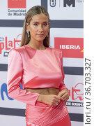 Maria Pombo attends to Red Carpet of Platino Awards 2021 photocall... Редакционное фото, фотограф NACHO LOPEZ / age Fotostock / Фотобанк Лори