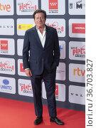 Joaquim de Almeida attends to Red Carpet of Platino Awards 2021 photocall... Редакционное фото, фотограф NACHO LOPEZ / age Fotostock / Фотобанк Лори