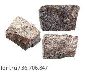 Set of Pyrrhotite (magnetic pyrite) rocks isolated on white background. Стоковое фото, фотограф Zoonar.com/Valery Voennyy / easy Fotostock / Фотобанк Лори