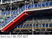 Museum of Modern Art, Centre Pompidou, Marais, Paris France. Редакционное фото, фотограф Frederic Soreau / age Fotostock / Фотобанк Лори
