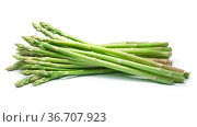 Bundle of green asparagus shoots (Asparagus officinalis). Clipping... Стоковое фото, фотограф Zoonar.com/Max Tat / easy Fotostock / Фотобанк Лори