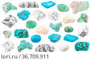 Set of Turquoise and natural imitation gemstones (Magnesite, Howlite... Стоковое фото, фотограф Zoonar.com/Valery Voennyy / easy Fotostock / Фотобанк Лори