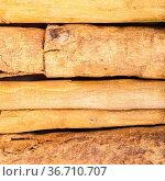 Square food background - several sticks of continental ceylon cinnamon... Стоковое фото, фотограф Zoonar.com/Valery Voennyy / easy Fotostock / Фотобанк Лори