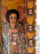 Church of Debre Berhan Selassie in Gondar, Ethiopia. Стоковое фото, фотограф Zoonar.com/Rudolf Ernst / easy Fotostock / Фотобанк Лори