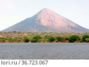Lake Nicaragua and volcano Concepcion on the island Ometepe. Стоковое фото, фотограф Zoonar.com/Valeriy Shanin / age Fotostock / Фотобанк Лори