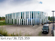 Welcome First Day October 2016 Hochschule der Medien Library Exterior... Стоковое фото, фотограф Zoonar.com/Hunter Bliss / easy Fotostock / Фотобанк Лори