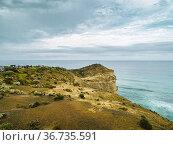 Pathway leading to Castle Rock at the Twelve Apostles coastal attraction... Стоковое фото, фотограф Mehul Patel / age Fotostock / Фотобанк Лори