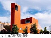 San Sebastian de los Reyes, Spain - May 15, 2021: Exterior view of... Стоковое фото, фотограф Zoonar.com/@jjfarquitectos / easy Fotostock / Фотобанк Лори