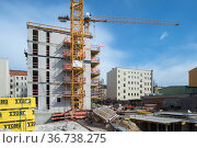 """""""Berlin, Germany - New construction of a residential building in the Beusselstrasse in Berlin-Mitte"""" Редакционное фото, агентство Caro Photoagency / Фотобанк Лори"""