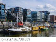 """Living and working in Hafencity, Hamburg, Germany, Europe"" Редакционное фото, агентство Caro Photoagency / Фотобанк Лори"