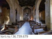 Pienza Val d'Orcia Tuscany Italy. Pieve dei Santi Vito e Modesto ... Стоковое фото, фотограф Marco Brivio / age Fotostock / Фотобанк Лори