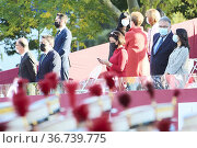 Ines Arrimadas attends The National Day Military Parade on October... Редакционное фото, фотограф ©MANUEL CEDRON / age Fotostock / Фотобанк Лори