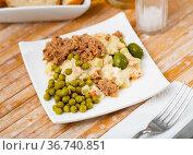 Spanish salad called Ensalada rusa. Стоковое фото, фотограф Яков Филимонов / Фотобанк Лори
