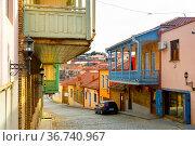 Architecture of Sighnaghi city in Kakheti, Georgia. Стоковое фото, фотограф Яков Филимонов / Фотобанк Лори