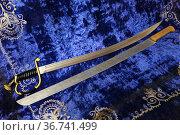 Две шашки из алюминия. Для тренировки казака. Стоковое фото, фотограф Анатолий Матвейчук / Фотобанк Лори