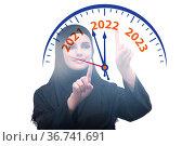 Concept of new year of 2022. Стоковое фото, фотограф Elnur / Фотобанк Лори
