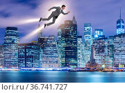 Businessman in career and start-up concept. Стоковое фото, фотограф Elnur / Фотобанк Лори