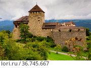 Medieval castle view in Vaduz. Liechtenstein. Стоковое фото, фотограф Яков Филимонов / Фотобанк Лори