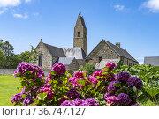 Gratot Church, Normandy, France. Стоковое фото, фотограф Peter Schickert / age Fotostock / Фотобанк Лори