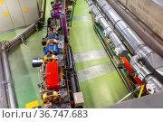 Synchrotron accelerator tunnel. Стоковое фото, фотограф Яков Филимонов / Фотобанк Лори