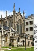 Grace Church, historic parish church in Manhattan, New York City. USA. Стоковое фото, фотограф Валерия Попова / Фотобанк Лори