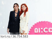Director Elisa Amoruso and Bella Thorne during the Time Is Up photocall... Редакционное фото, фотограф Antonelli / AGF/Maria Laura Antonelli / age Fotostock / Фотобанк Лори