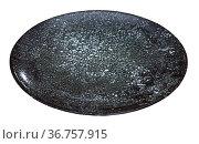Empty round black plate. Стоковое фото, фотограф Яков Филимонов / Фотобанк Лори