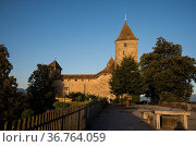 Schloss Rapperswil, Rapperswil, Kanton St. GallenSchweiz/Rapperswil... Стоковое фото, фотограф Zoonar.com/Günter Lenz / age Fotostock / Фотобанк Лори
