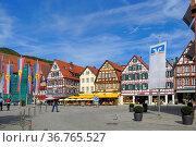 Baden - Württemberg, Schwäbische Alb, Bad - Urach Innenstadt, Altstadt... Стоковое фото, фотограф Zoonar.com/Bildagentur Geduldig / easy Fotostock / Фотобанк Лори