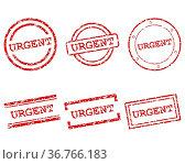 Urgent Stempel. Стоковое фото, фотограф Zoonar.com/Robert Biedermann / easy Fotostock / Фотобанк Лори