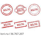 Blog Stempel. Стоковое фото, фотограф Zoonar.com/Robert Biedermann / easy Fotostock / Фотобанк Лори